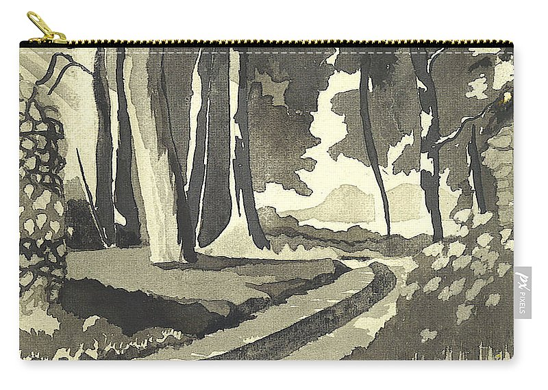 Rural Carry-all Pouch featuring the painting Country Lane In Evening Shadow by Kip DeVore
