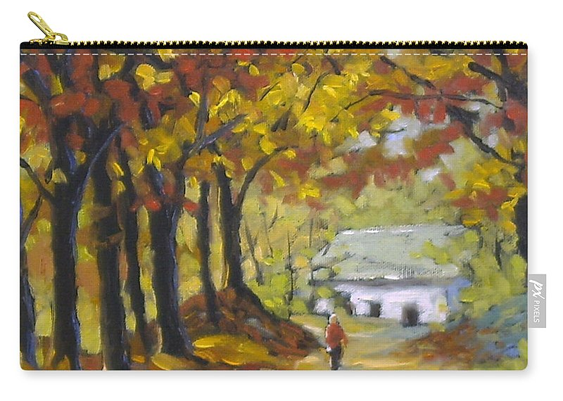 Art Carry-all Pouch featuring the painting Country Lane by Richard T Pranke