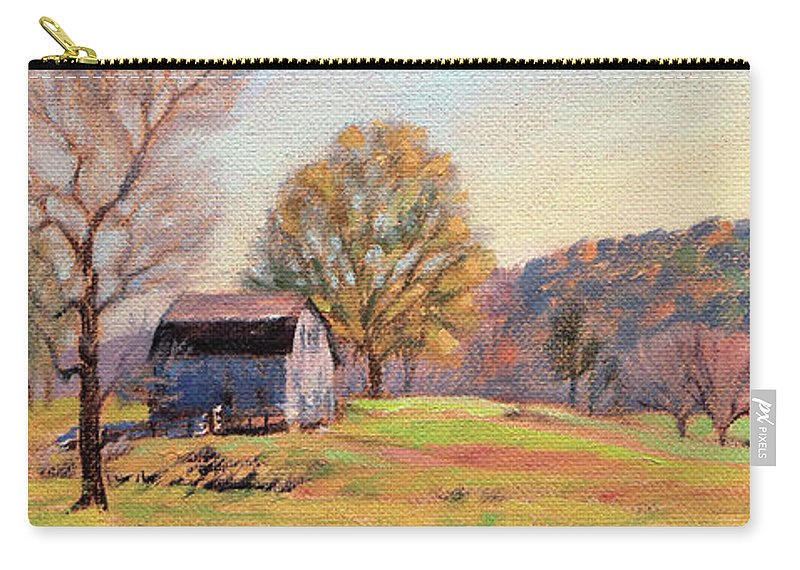 Country Carry-all Pouch featuring the painting Country Morning by Bonnie Mason