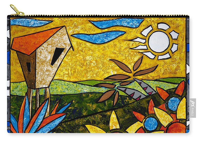 Puerto Rico Carry-all Pouch featuring the painting Country Peace by Oscar Ortiz