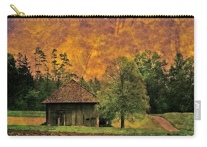 Country Side Carry-all Pouch featuring the photograph Country Road - Take Me Home by Susanne Van Hulst