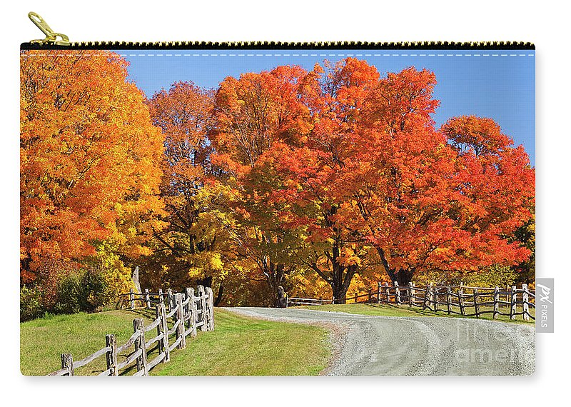 Autumn Carry-all Pouch featuring the photograph Country Road Autumn by Alan L Graham