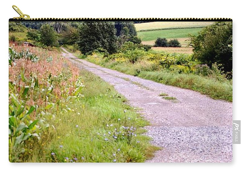 Old Barn Carry-all Pouch featuring the photograph Country Road by David Lane