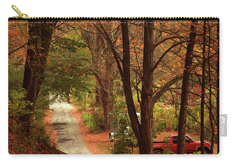 Autumn Carry-all Pouch featuring the photograph Country Road by Karol Livote