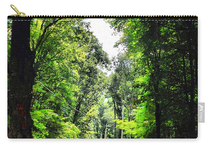 Country Road Carry-all Pouch featuring the painting Country Road by Jeelan Clark