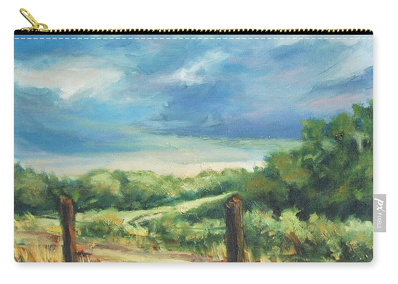 Clouds Carry-all Pouch featuring the painting Country Road by Rick Nederlof