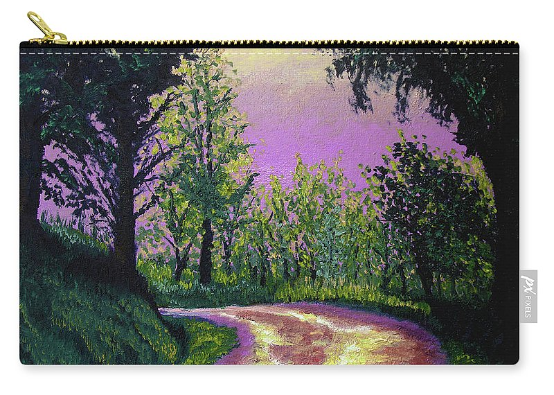 Landscape Carry-all Pouch featuring the painting Country Road by Stan Hamilton