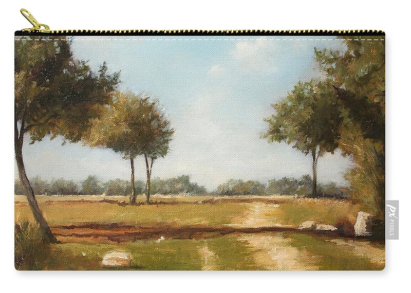 Landscape Carry-all Pouch featuring the painting Country Road with Trees by Darko Topalski