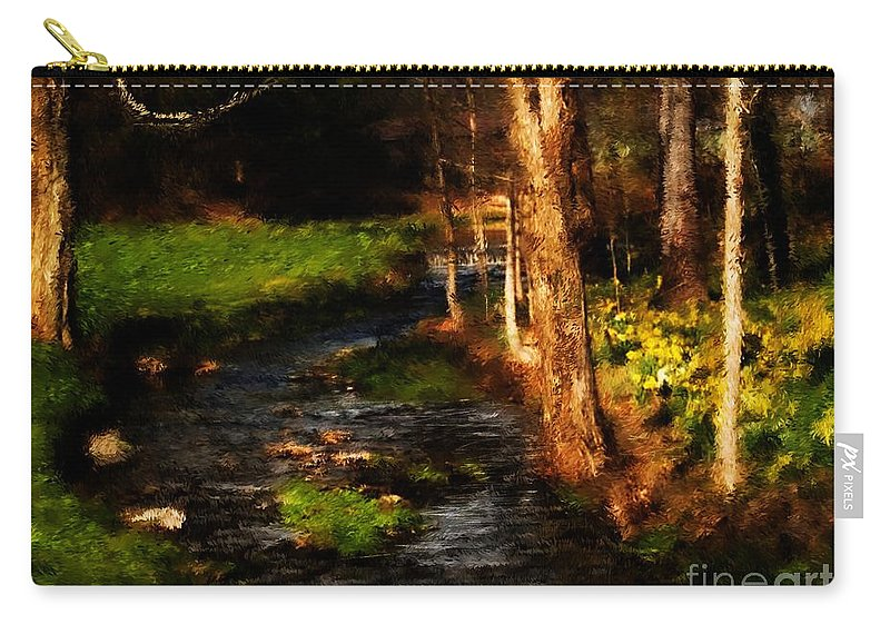 Digital Photo Carry-all Pouch featuring the photograph Country Stream by David Lane
