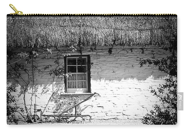 Irish Carry-all Pouch featuring the photograph County Clare Cottage Ireland by Teresa Mucha