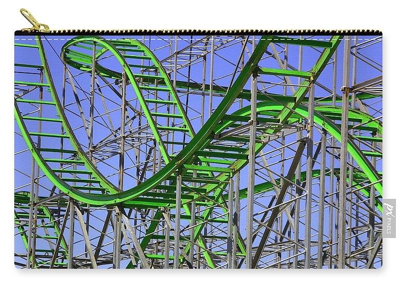 Green Carry-all Pouch featuring the photograph County Fair Thrill Ride by Joe Kozlowski