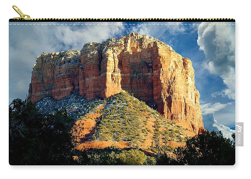 Courthouse Butte Carry-all Pouch featuring the photograph Courthouse Butte - Sedona Arizona by James DeFazio