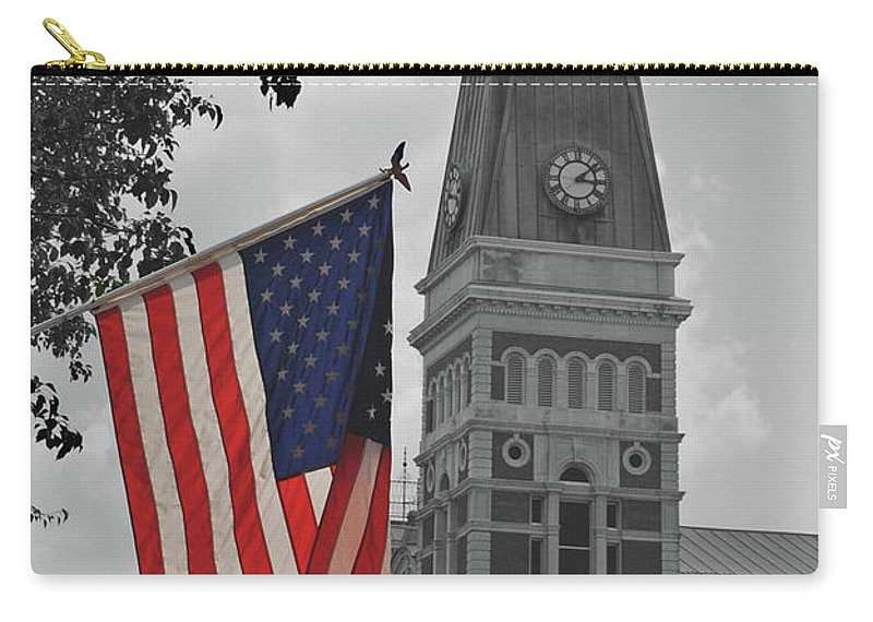 Columbus Carry-all Pouch featuring the photograph Courthouse In America by Jost Houk