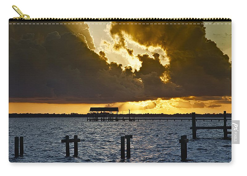 Bay Carry-all Pouch featuring the photograph Courtship by Janet Fikar