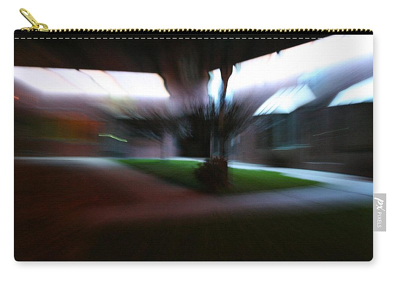 Courtyard Carry-all Pouch featuring the photograph Courtyard At Night by Ric Bascobert