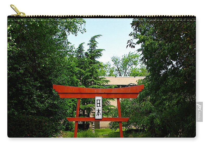 Scenery Carry-all Pouch featuring the photograph Courtyard by Scott Wyatt