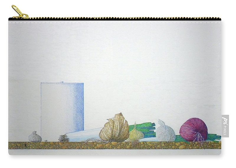 Onions Carry-all Pouch featuring the painting Coventry by A Robert Malcom