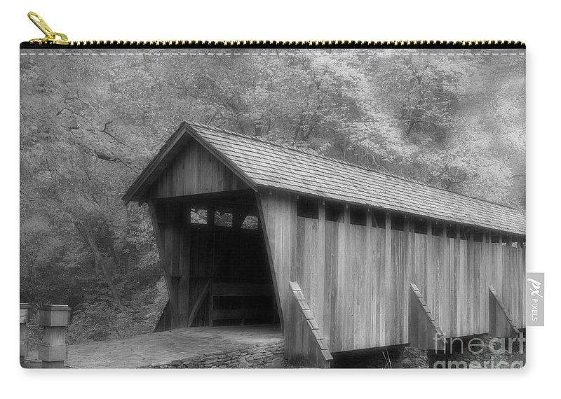 Covered Bridge Carry-all Pouch featuring the photograph Covered Bridge by Karol Livote