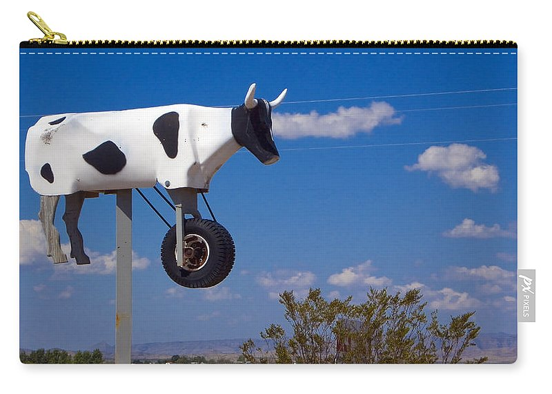 Cow Carry-all Pouch featuring the photograph Cow Power by Skip Hunt