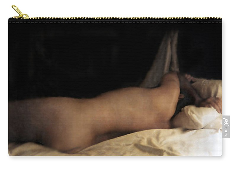 Nude Carry-all Pouch featuring the photograph Cowboy Dreaming by RC DeWinter