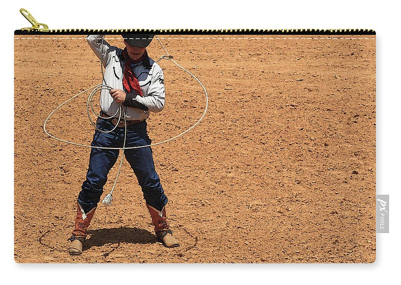 Western Art Carry-all Pouch featuring the photograph Cowboy Entertainer by Kim Henderson