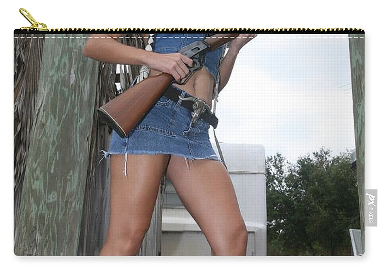 Cowgirl Boots Sexy Glamorous Carry-all Pouch featuring the photograph Cowgirl 022 by Lucky Cole