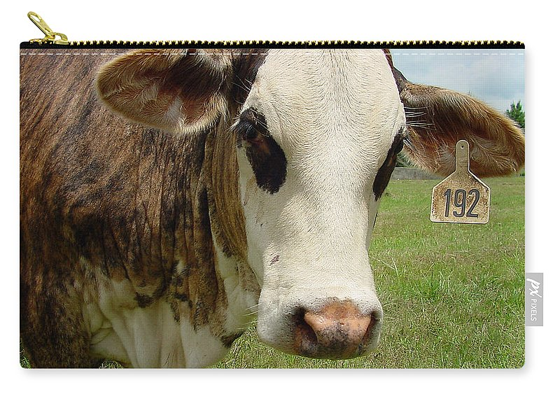 Cow Carry-all Pouch featuring the photograph Cows8937 by Gary Gingrich Galleries