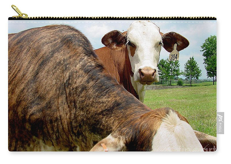 Cow Carry-all Pouch featuring the photograph Cows8938 by Gary Gingrich Galleries