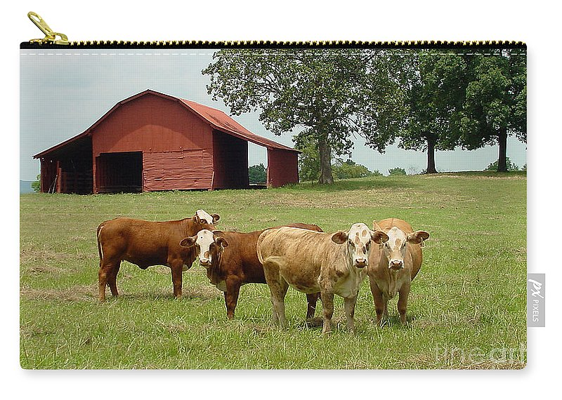 Cow Carry-all Pouch featuring the photograph Cows8954 by Gary Gingrich Galleries