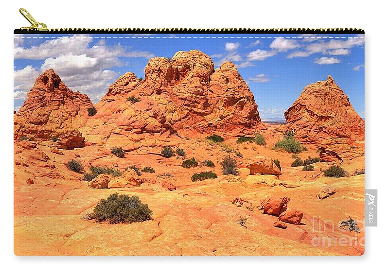 Utah Panorama Carry-all Pouch featuring the photograph Coyote Buttes Pastel Landscape by Adam Jewell