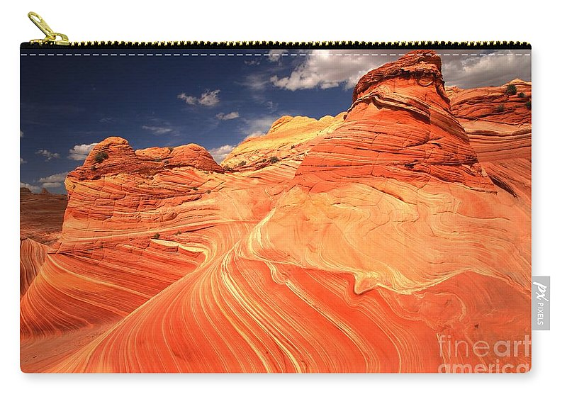 Coyote Buttes Carry-all Pouch featuring the photograph Coyote Buttes Sandstone Towers by Adam Jewell
