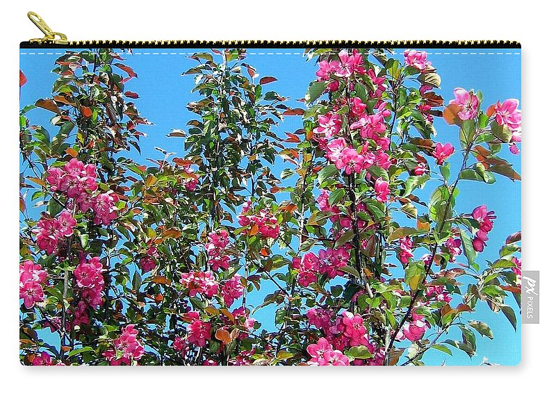 Crab Apple Blossoms Carry-all Pouch featuring the photograph Crab Apple Blossoms by Will Borden