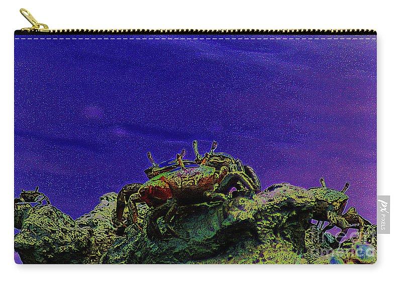 Crab Carry-all Pouch featuring the digital art Crab Cakez 5 by Kim Pate