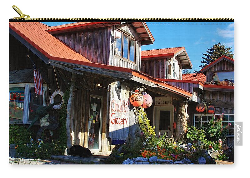 Seldovia Alaska Carry-all Pouch featuring the photograph Crabpot Grocery by Lori Mahaffey