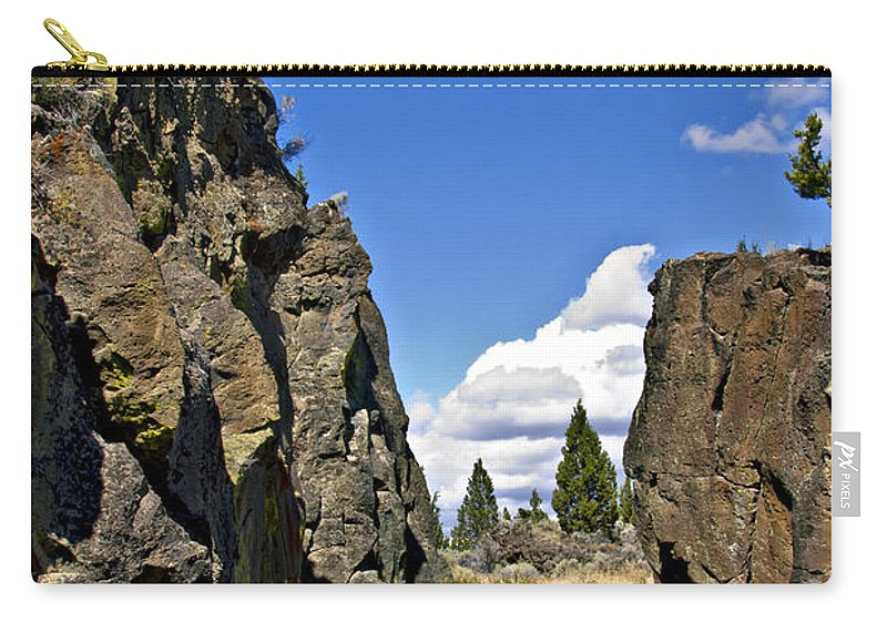 Crack In The Ground Carry-all Pouch featuring the photograph Crack In The Ground I by Albert Seger