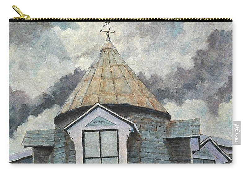Art Carry-all Pouch featuring the painting Crack The Sky by Richard T Pranke