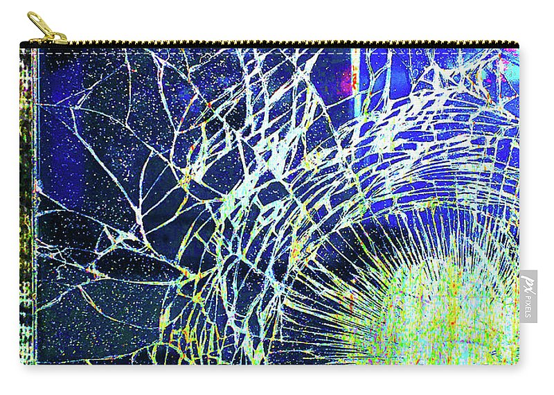 New York City Carry-all Pouch featuring the mixed media Crack by Tony Rubino