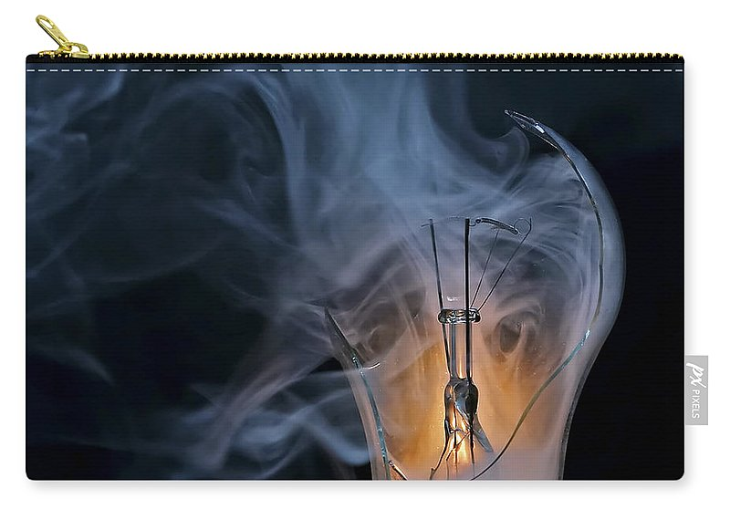 Bulb Carry-all Pouch featuring the photograph Cracked Bulb by Michal Boubin