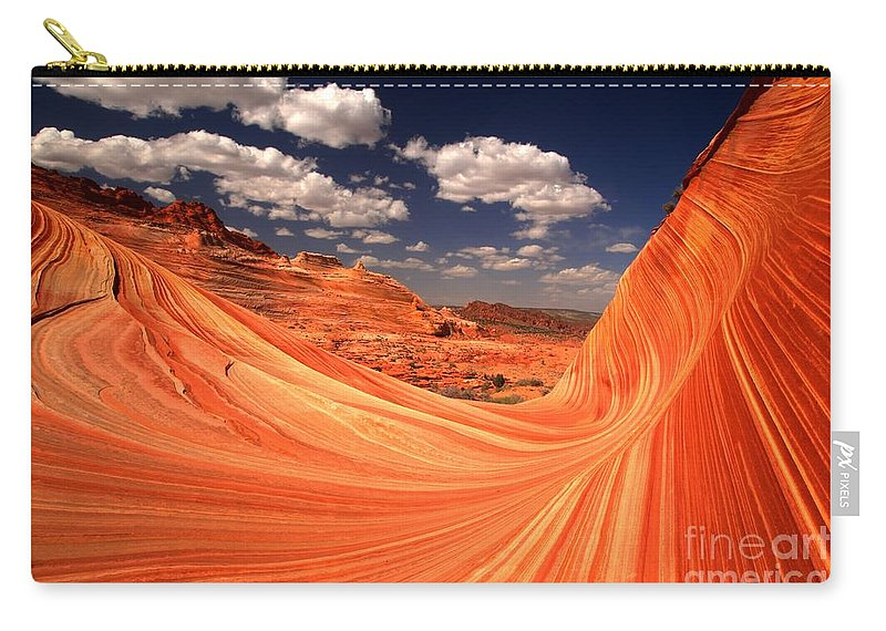 The Wave Carry-all Pouch featuring the photograph Cradled By A Wave by Adam Jewell