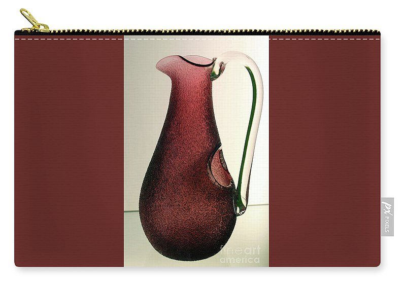 Cranberry Pitcher Carry-all Pouch featuring the photograph Cranberry Pitcher by Sharon Mayhak