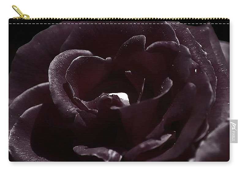 Clay Carry-all Pouch featuring the photograph Cranberry Rose by Clayton Bruster