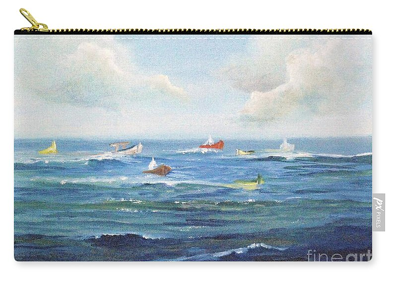 Impressionism Carry-all Pouch featuring the painting Crashboat Beach by Alicia Maury