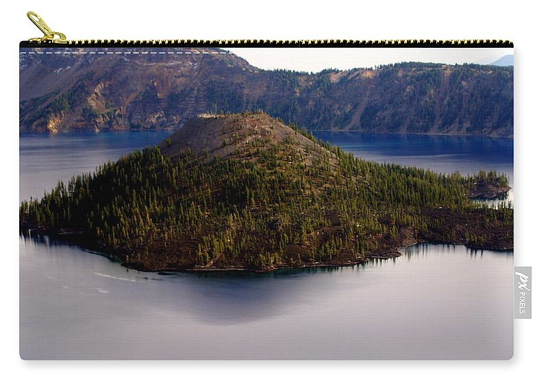 Crater Lake Carry-all Pouch featuring the photograph Crater Lake 1 by Marty Koch