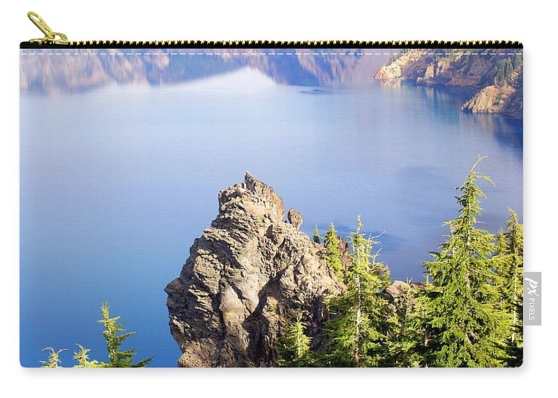 Crater Lake Carry-all Pouch featuring the photograph Crater Lake 4 by Marty Koch