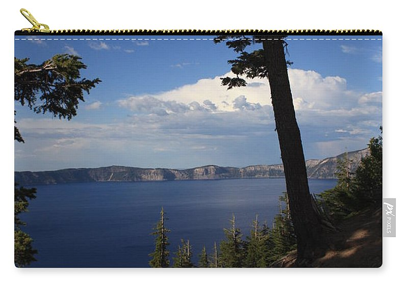 Landscape Carry-all Pouch featuring the photograph Crater Lake 7 by Carol Groenen
