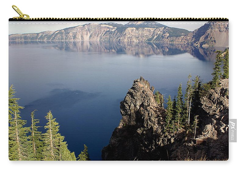 Crater Lake Carry-all Pouch featuring the photograph Crater Lake 7 by Marty Koch