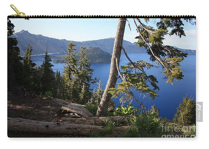 Crater Lake Carry-all Pouch featuring the photograph Crater Lake 9 by Carol Groenen