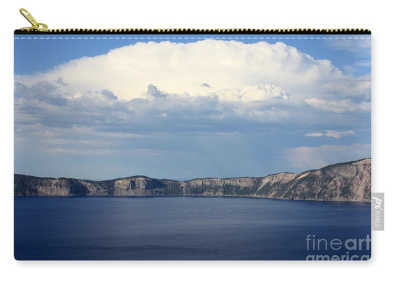 Clouds Carry-all Pouch featuring the photograph Crater Lake by Carol Groenen