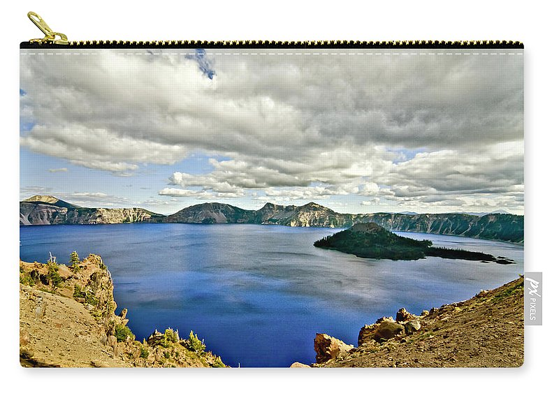 Crater Lake Carry-all Pouch featuring the photograph Crater Lake I by Albert Seger