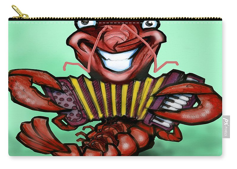 Crawfish Carry-all Pouch featuring the digital art Crawfish by Kevin Middleton